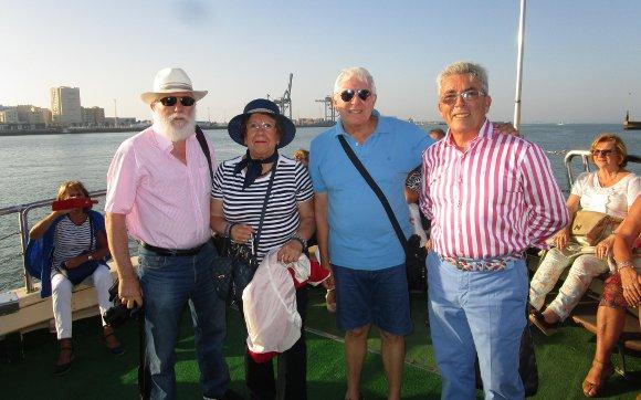Paco Muñoz, Nani Canto, Serafín Galán y Cipriano Meléndez.  Foto: Ignacio Casas de Ciria