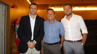 Bruno García León, Javier Gutiérrez y  Diego Álvarez.  Foto: Ignacio Casas de Ciria