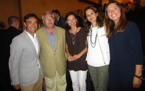 José Manuel Miranda, Miguel González Saucedo, Patricia Cavada, Cristina Saucedo y Ana Carrera.  Foto: Ignacio Casas de Ciria