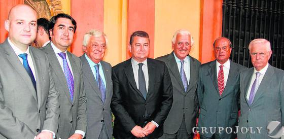 José María Bora, Pedro Roas, Francisco Herrero, Antonio Sanz, Santiago Herrero, Antonio Ponce y José Luis Sánchez Domínguez.  Foto: VICTORIA HIDALGO / JUAN CARLOS VAZQUEZ
