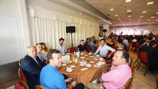 Fernando Paredes, Pedro Curiel, Javier Orellana, María Ruiz, Francisco Rodríguez, Juan Menacho y Miguel Menacho.  Foto: Pascual