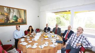 Juan Manuel García, Josefa Parra, Manuel Pérez, José Carlos Collado, Pedro Galindo y Angel Cortés.  Foto: Pascual