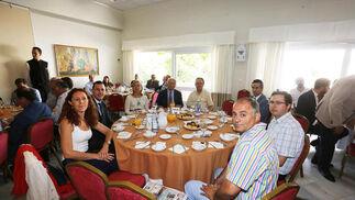 Natalia García, Antonio García, Rosa María Cortina, Benito Cortines, José Gil, Manuel Muñoz, Luis Gonzaga Muñoz y Sergio Villanueva.  Foto: Pascual