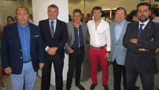 Benjamín Sánchez, Manuel Vizcaino, José Mata, José Antonio Mateo, Miguel Cuesta y Martín José García.  Foto: Ignacio Casas de Ciria