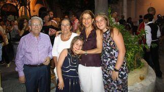 Ildefonso Marqués, Ana Galán, Ana Romero y las hermanas Ana y Victoria Oakden.  Foto: Ignacio Casas de Ciria