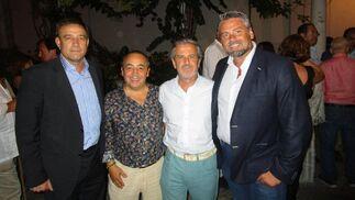 Alfonso Rodríguez Castillo, Kiki Hernández, Fito Carreto y Manuel González.  Foto: Ignacio Casas de Ciria