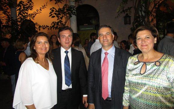 Ángeles Rodríguez, Eduardo González Mazo, Juan Bosco López y Ana Fernández.  Foto: Ignacio Casas de Ciria