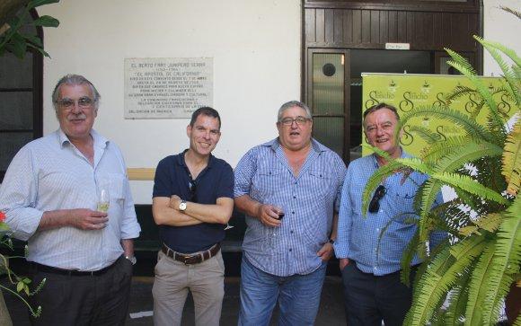 Francisco Valverde, Joaquin Martínez, Carlos Navas y Tomas Alonso, durante el homenaje.  Foto: Ignacio Casas de Ciria