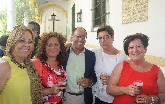 María  Montilla, Carmen Sanchez, Manuel Requejo, Ana Navas y Nieves Gómez.   Foto: Ignacio Casas de Ciria