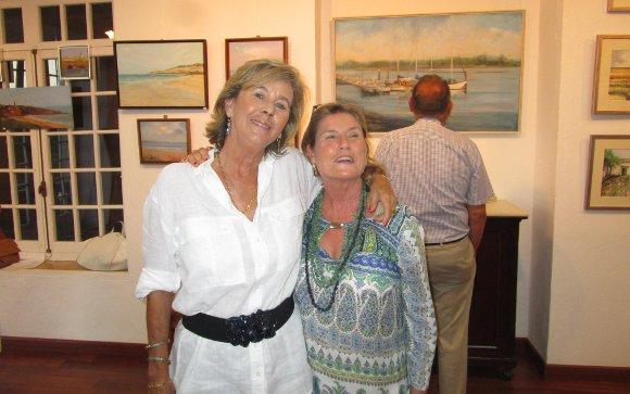 Las pintoras Verónica Osborne y Begoña Grosso.  Foto: Ignacio Casas de Ciria