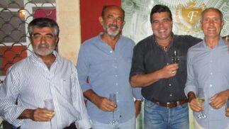 Fernando Gómez, Fran Machín, Jaime Estevez y José Pestana.  Foto: Ignacio Casas de Ciria