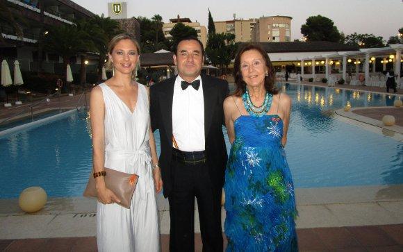 Pilar Zumt, Fernando Caballero y Clelia Muchetti.  Foto: Ignacio Casas de Ciria