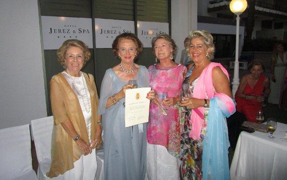 Marquesa de Las Palmas, Maribel Domecq, Petra Llanza y Pilar Gracia.  Foto: Ignacio Casas de Ciria