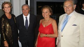 Susana Gómez, Emilio Muñoz, Sole Orioll y marqués de Las Palmas.  Foto: Ignacio Casas de Ciria