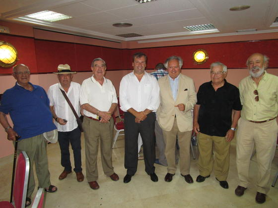 Manuel Gutiérrez, JoséLuis Ossorio, Manuel Cerezo, Rafael Fernández, Paco Ortiz, Eloy Montero y Fernando Blanco.  Foto: Ignacio Casas de Ciria