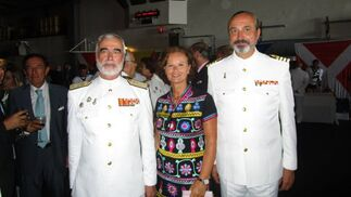 Santiago Bolibar, Ángeles Salas y José Ramón Fernández de Mesa.  Foto: Ignacio Casas de Ciria