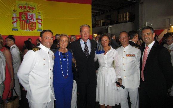María García Lineses, Stephan de Clerck, Cruz Agrelo, Santiago  González y el alcalde de Rota Javier Ruiz.  Foto: Ignacio Casas de Ciria