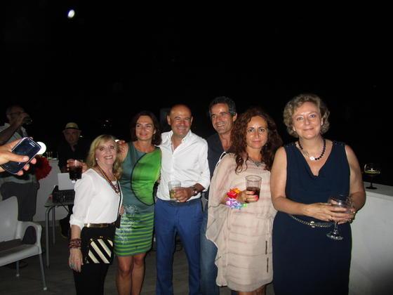 Carmen Medina, María Souto, Javier Sánchez, Tachi Grau, Carmen Miranda y Lali Elicegui.  Foto: Ignacio Casas de Ciria