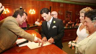 15-06-2007: Despedida de Martín Reyes  Última boda que ofició como presidente de la gestora. Después se convirtió en comisionado para la Costa. El Ayuntamiento marbellí, disuelto por el caso Malaya.