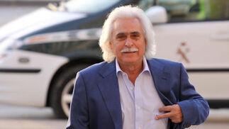 17-10-2011: 'Sandokán'  El edil y empresario Rafael Gómez, conocido como 'Sandokán', a su llegada a los juzgados malagueños en el último bloque del juicio.