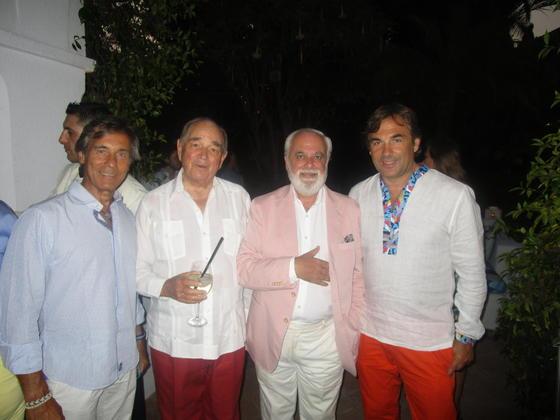 Conde Rudi, Bernard Adolphe de Aguera y Hubertus de Hohenlohe.  Foto: Ignacio Casas de Ciria