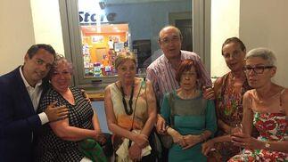 Javier Bote, Kiskitza, Marga Domínguez, Juan de Dios Baro, Menchu Salegui, Paloma Maico y María Luisa Daneri.  Foto: Ignacio Casas de Ciria
