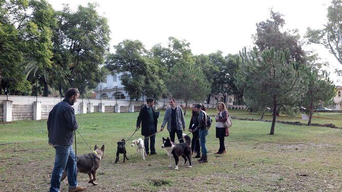 Usuarios, en uno de los parques.