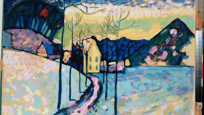 Vasili Kandinsky (1866 - 1944), en plena creación, en una imagen de los años 30.