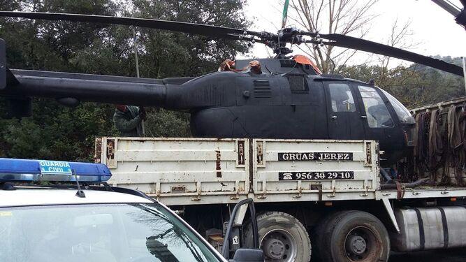 El helicóptero intervenido por la Guardia Civil