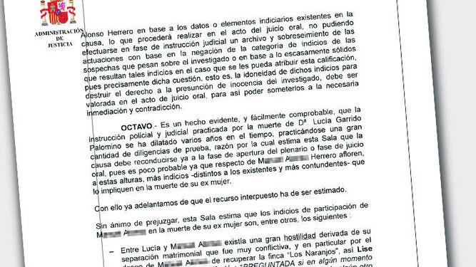 El ex marido de Lucía  Garrido, investigado de nuevo por su asesinato