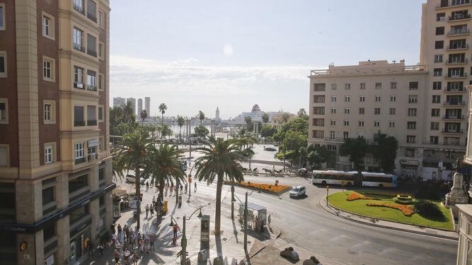 La puerta de entrada a Málaga desde el mar