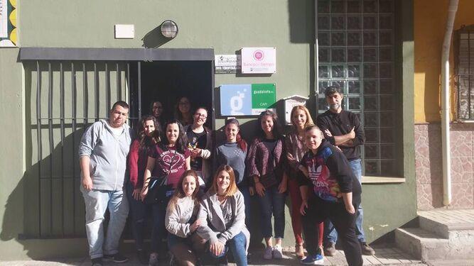 El equipo de Málaga que ha participado en el plan piloto.