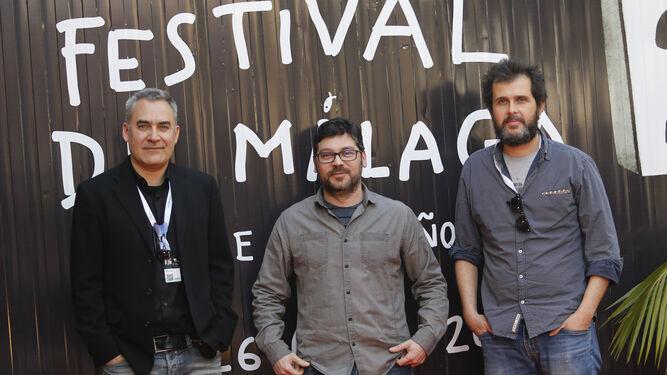 David Muñoz, Fernando Pozo y Jorge Peña, tres realizadores malagueños en su festival.