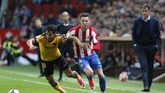 El Sporting-Málaga, en imágenes