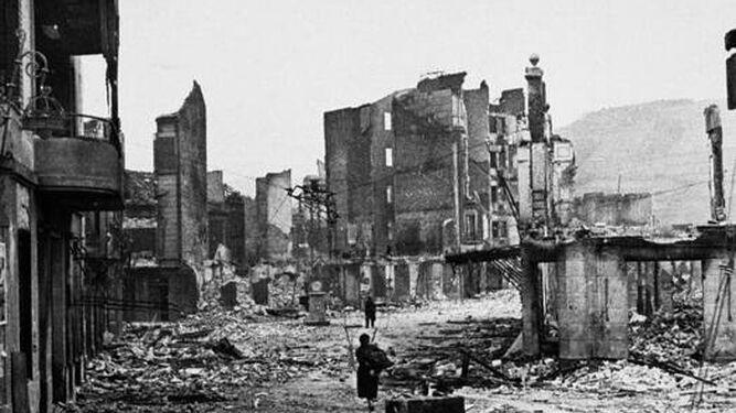 Guernica, tras el bombardeo