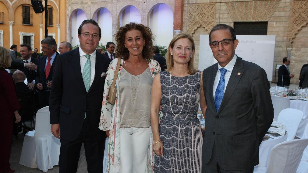 José Antonio García de Tejada, Ana Serrano, Concepción Horgue y Miguel Ángel Castro.