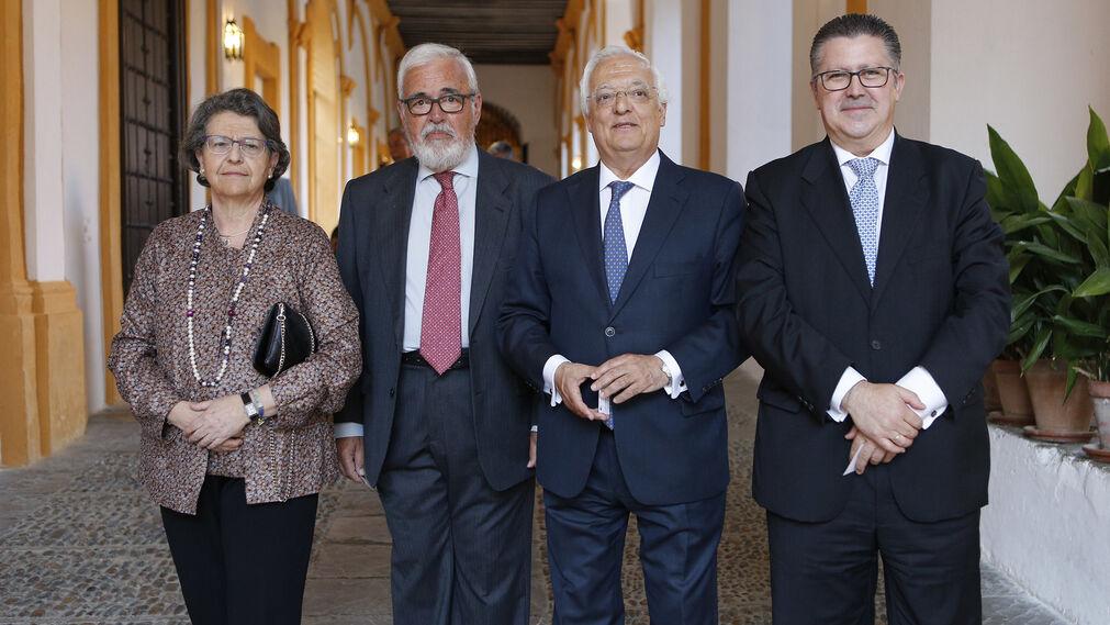 María Lasso de la Vega, Carlos Colón, Alfonso Pérez de los Santos y Antonio Martín García.