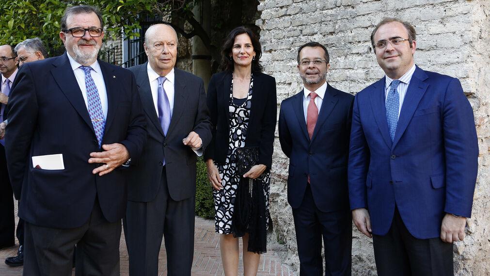 José Rodríguez de la Borbolla, Luis Carlos Peris, Inmaculada Díaz, Juan Manuel Marqués Perales y Carlos Navarro.