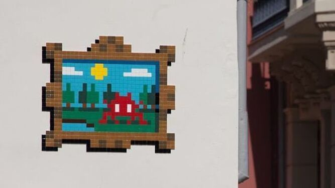 'Invader estuvo aquí', los píxeles decoran Málaga