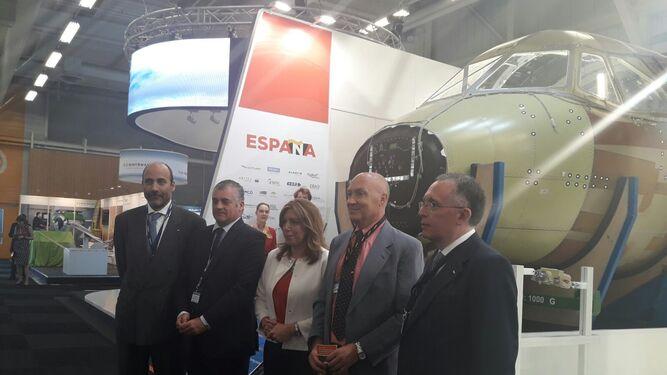 Susana Díaz en el Salón Aeronáutico París Le Bourget