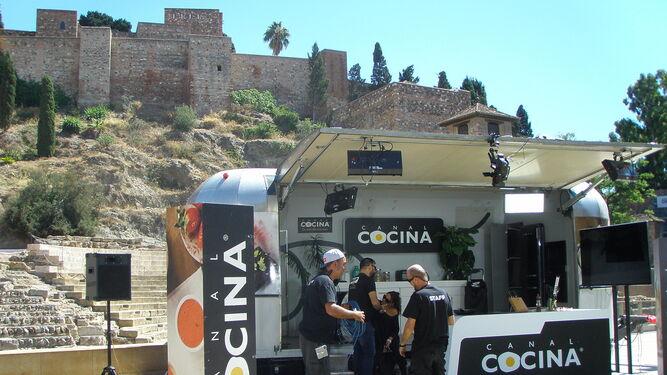 Rodaje del anuncio 'Creditomas' en la calle Especería.