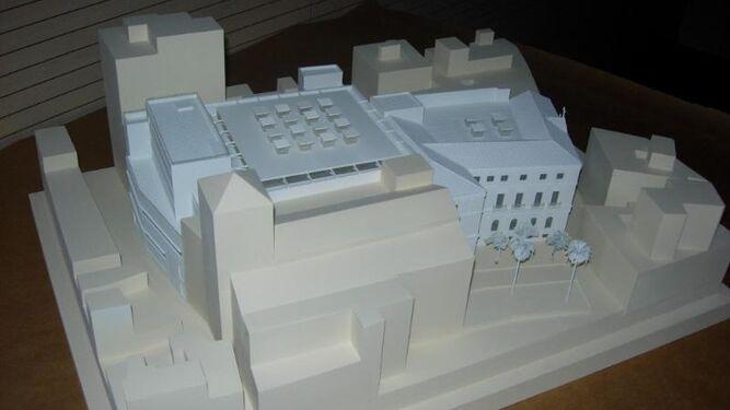 Maqueta del proyecto original de la Biblioteca de San Agustín.