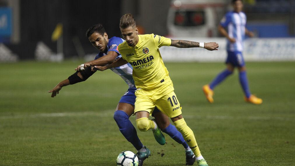 Las imágenes del Málaga-Villarreal del Trofeo Carranza
