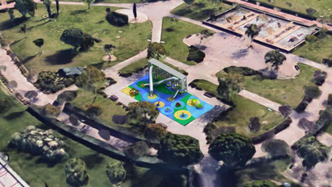 El Centro acogerá un parque infantil con un diseño de temática religiosa