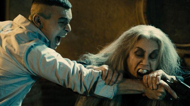 Con Mario Casas en 'Las brujas de Zugarramurdi'.