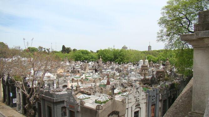 El cementerio de La Chacarita, en Buenos Aires, donde reposan los restos del artista.