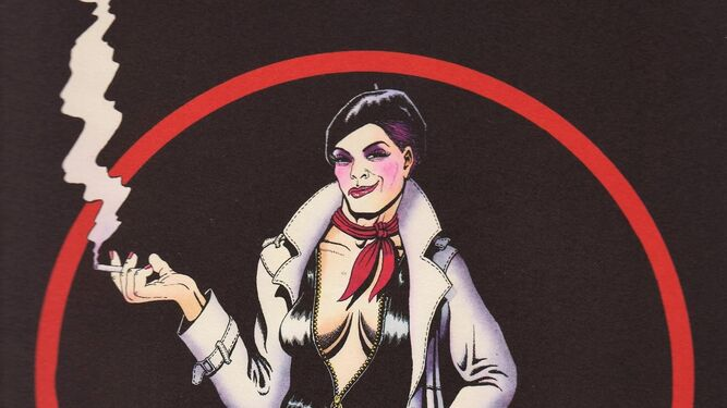 El detective transexual Anarcoma, uno de los personajes más icónicos del 'underground' español.