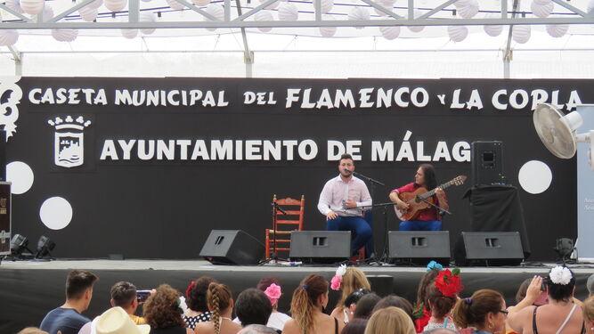 Actuación en la Caseta Municipal del Flamenco.
