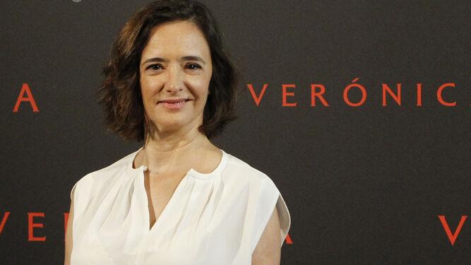 Ana Torrent, ayer en la presentación de 'Verónica' a la prensa.