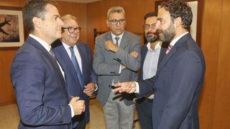 Carlos Conde, Jerónimo Pérez Casero,  Sergio Cuberos, Francisco Pomares y Daniel Pérez.